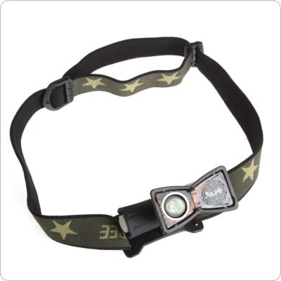 Glare M20 CREE-3W 4 Modes 80 Lumens Waterproof IPX8 Lightweight Headlamp