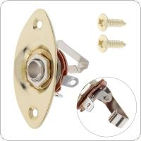 Gold Oval Output Jack Socket Bass / Electric Guitar