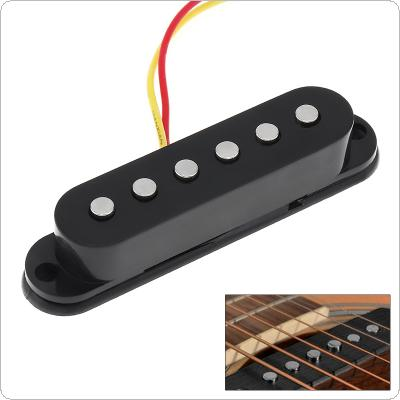 Black Single Coil Sound Pickup for 6 Strings Guitar