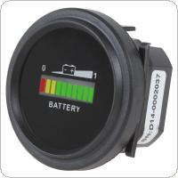 12/24V 36V 48/72V Universal Three color LED lights Battery Indicator Charge Status Meter
