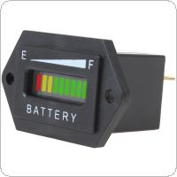 12/24V 36V 48V Rectangle Three Color LED Battery Charge Status Indicator