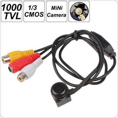 1000 TVL 1/3 Inch PC1099K CMOS Wide Angle Lens Mini CCTV Camera