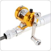 Portable Telescopic 1m Mini Fishing Rod Aluminum Alloy Pen Shape Fishing Pole + Fishing Reel + Fishing Line + Fishing Lure