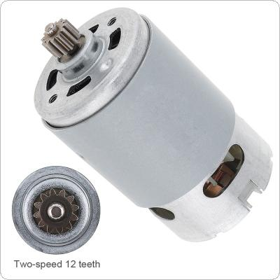 RS550 25V 19500 RPM DC Motor with Two-speed 12 Teeth and High Torque Gear Box for Electric Drill / Screwdriver