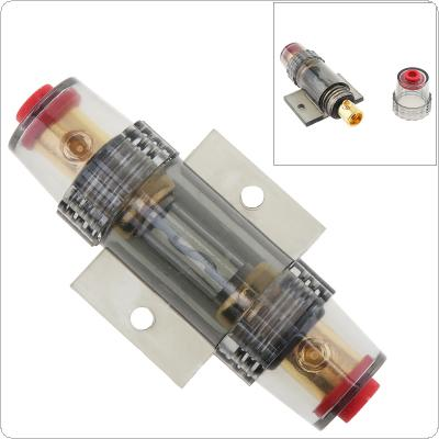 Car Audio Refit Fuse Holder 8 Gauge 60A DC 12V Car Stereo Audio Circuit Breaker Inline Fuse