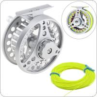 Aluminum Alloy Fly Fishing Reel 7/8 Large Former Ice- Fishing Reel + 100ft 30.5m Fly Fishing Line