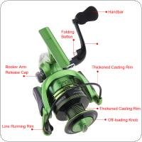 6000 Series 13+1 Ball Bearings 4.7:1 Full Metal Foldable Arm Spinning Fishing Reel with EVA Handle