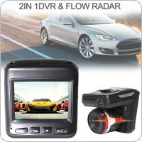2 In 1 Car DVR Radar Detector G Senor Gravity Car Detector Camera HD 1280P  Anti Radar Detectors Dash Cam Russian + English Language
