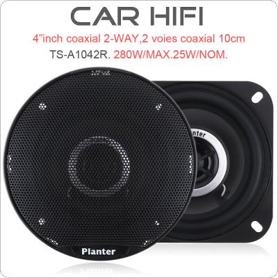 TS-A1042R 2pcs 4 Inch 280W Car HiFi Coaxial Speaker Vehicle Door Auto Audio Music Stereo Full Range Frequency Speakers for Cars