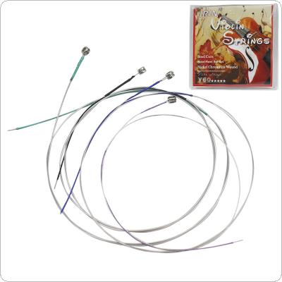 4pcs/lot Violin Strings E-A-D-G Steel Core Nickel Chromium Wound Exquisite Stringed