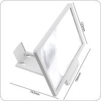 3X PVC+ABS Adjustment 3D Phone Movie Magnifier with Mobile Phone Bracket and Screen Bracket