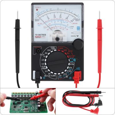 YX- 360TRNB Mini Portable Poin-ter Multimeter with One Pair Test Pen for Measuring DC AC Voltage and DC Curren
