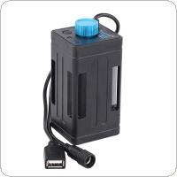 Portable Waterproof Battery Case Box with USB Interface Support 4 x 18650 Battery for Bicycle LED Light
