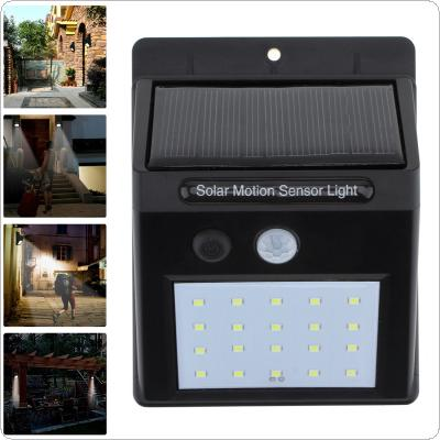 Outdoor Waterproof 20 LED Rechargeable Solar Power PIR Motion Sensor Wall Light for Garden / Yard / Driveway
