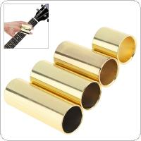 4pcs/lot Gold Plated Steel Guitar Slide 28mm 51mm 60mm 70mm Electronic Guitar Smooth Edge Slider