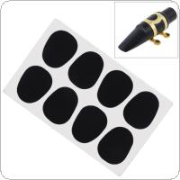 8pcs/lot Black Silicone 0.5mm Alto Tenor Saxophone Clarinet Mouthpiece Cushions