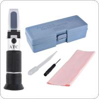 Hand Held 0~20% Milk  Adjustable Milk Concentration Refractometer with Pipette and Mini Screw Driver Support Manual Focusing