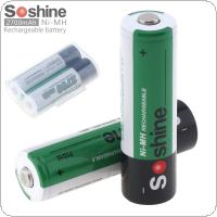 Soshine 2pcs Ni-MH AA 1.2V R6 2700mAh Rechargeable Batteries + Portable Battery Box for Alarm / Clock / Wireless Mouse / Game Handle