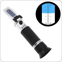 Hand Held 0~28% Salinity Adjustable Salinity Refractometer Food Salinometer with Pipette and Mini Screw Driver Support Manual Focusing