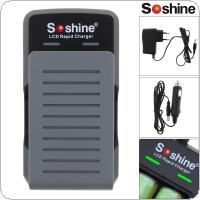 Soshine 100 - 240V S2 2 Slots Quick Universal Battery Charger with LED Indicator for 18650 / 17650 Batteries