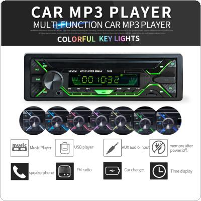 12V 1 DIN In-Dash Bluetooth 7 Color Light Car Stereo FM Radio MP3 Audio Player Aux Input / SD / USB / MP3 with Remote Control
