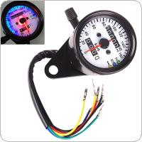 DC 12V Dual LED Backlight Night Readable Speedometer Gauge Panel Motorcycle Universal Odometer Instrument