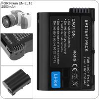 7.0V 2550mAh EN-EL15 ENEL15 EN EL15 Li-ion Rechargeable Decoded Camera Battery Fit for Nikon DSLR D600 D610 D800 D800E D810 D7000 D7100 D7200 V1