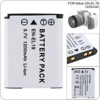 3.7V 1200mAh ENEL19 EN-EL19 Li-ion Rechargeable Camera Battery Fit for Nikon Coolpix S32 S33 S100 S2500 S2750 S3100 S3200 S3300 S3400 S3500 S4100 S4150 S4200