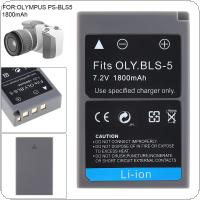 7.2V 1800mAh PS-BLS5 BLS-5 BLS5 BLS-50 BLS50 Li-ion Rechargeable Camera Battery Fit for Olympus PEN E-PL2 E-PL5 E-PL6 E-PL7 E-PM2 OM-D E-M10 E-M10 II Stylus1