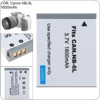 NB-6L 3.7V 1600mAh Li-ion Rechargeable Camera Battery Fit for Canon PowerShot S90 SD770 D10