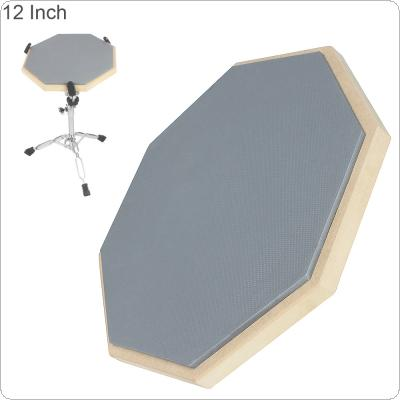 12 Inch Rubber Wooden Dumb Drum Practice Training Drum Pad for Jazz Drums Exercise