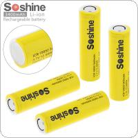 Soshine 4pcs ICR 18650 3.7V 12.58WH 10A 3400mAh Li-ion Rechargeable Battery with Safety Relief Valve for Electric Tool / Headlamp / Bicycle Lamp