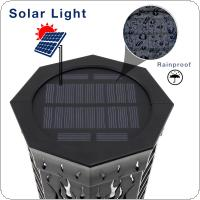 Waterproof Outdoor 96 LEDS Solar Energy Light with Torch Shape And Light Sense Automatic Mode Support 3 Types of Installation for Garden / Home Lighting