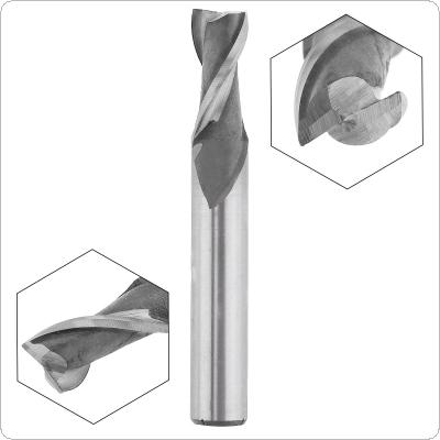 4mm 2 Flute HSS End Mill Cutter with Super Hard Straight Shank for CNC Mold Processing