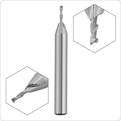 1.5mm 2 Flute HSS End Mill Cutter with Super Hard Straight Shank for CNC Mold Processing