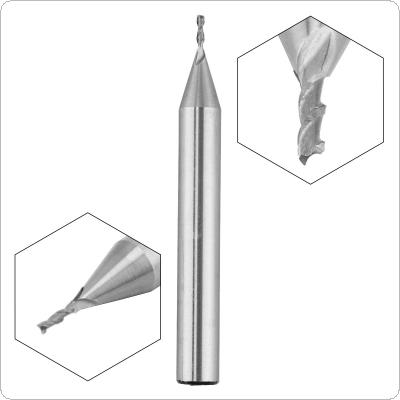 1mm 2 Flute HSS End Mill Cutter with Super Hard Straight Shank for CNC Mold Processing