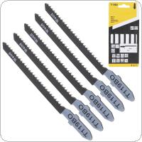 5pcs/set T119BO 77mm High-carbon Steel Reciprocating Jig Saw Fast-Cutting Saw Blade for Wood / Board / Plastic Cutting