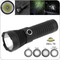 TC16 10W Super Bright T6 LED 1100 Lumens Aluminum Alloy Waterproof Flashlight with 5 Modes Lights Support 18650 / 26650 Battery for Cycling / Camping