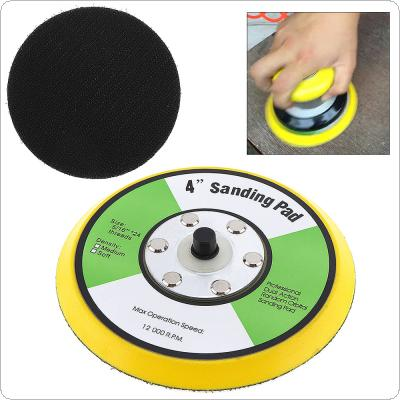 4 Inch Professional 12000RPM Double-acting Random Orbital Sanding Pad with Hairy Surface for Polishing and Sanding