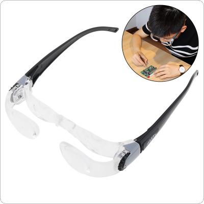 2.1X 0-300 Degree ABS + Acrylic Optical Lenses Portable Adjustable Television Glasses Magnifier for Watching TV