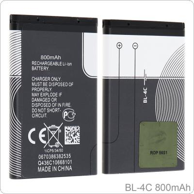 BL-4C 3.7V 800mAh Phone Built-in Rechargeable Li-ion Replacement Battery with Battery Cells PTC Protection for Nokia 6300 6100 X2 6101 2220s 2690 7200