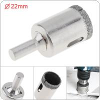22mm Diamond Coated Core Hole Saw Drill Bit Set Tools Glass Drill Hole Opener for Tiles Glass Ceramic