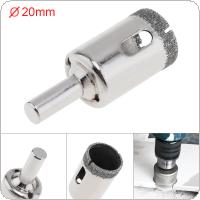 20mm Diamond Coated Core Hole Saw Drill Bit Set Tools Glass Drill Hole Opener for Tiles Glass Ceramic