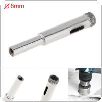 8mm Diamond Coated Core Hole Saw Drill Bit Set Tools Glass Drill Hole Opener for Tiles Glass Ceramic