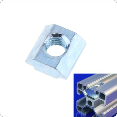 2020 Quadrilateral Slider Nut with Screw Holes High Galvanized Surface European Standard for Connecting Profile Accessories