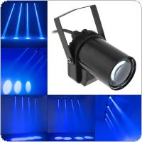 5W Blue LED Beam Spotlight Dance Party DJ Bar Spin Stage Light Fixed Lights