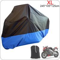 XL 180T Universal Motorcycle Cover UV Protector Waterproof Rain Dustproof Anti-theft Motor Scooter Covers