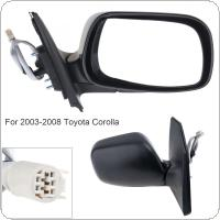 Non Folding Durable Right Side Mirror Right Hand RH Mirror for 2003-2008 Toyota Corolla CE / LE/ S/ Sport/ XRS Sedan 4-Door
