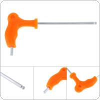 5mm T-type Crutch Allen Wrench with Ball Head and Plastic Handle for Home / Office / Site