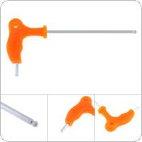 4mm T-type Crutch Allen Wrench with Ball Head and Plastic Handle for Home / Office / Site